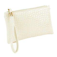 Oferta: 0.85€. Comprar Ofertas de LHWY Las Mujeres Cocodrilo de Cuero Bolso de Embrague (Blanco) barato. ¡Mira las ofertas!