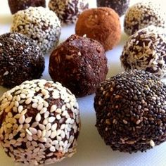 Crunchy Raw Protein Balls, have before a hardcore workout!