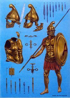 greek warrior by byzantinum.deviantart.com on @deviantART