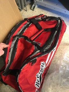 NEWThe Dinger Rolling Baseball Gear Bag - RED/Black Trim