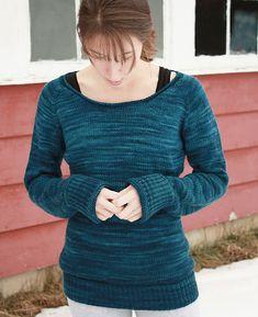 Ease by Alicia Plummer. Rios Superwash Merino yarn. Azul Profundo color