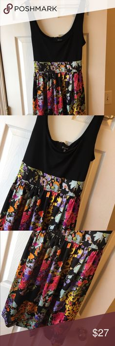 SALE! Maurice's brand floral dress Perfect for wedding season! Size 13 , black top with black and floral bottom, ties in the back, so cute! Maurices Dresses