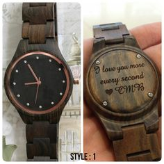 engraved womens wooden watch, womens watch, women's watch, valentines day, personalized women's wood watch, anniversary, mothers day gift by SFdizayn on Etsy https://www.etsy.com/listing/264100566/engraved-womens-wooden-watch-womens