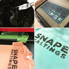 A few of the awesome #gildan colours #snapemaltings had for their #tshirts #screenprinting in black!