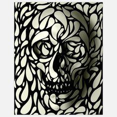 #Skull #Wall #Art #Print