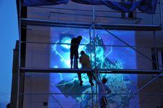 Mural UV na elewacji
