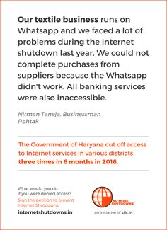 Internet Shutdowns in India Textile Business, Portal, Internet, India, Delhi India, Indian