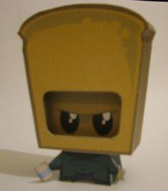 Derek the Toast Ninja Free Paper Toy Download - http://www.papercraftsquare.com/derek-the-toast-ninja-free-paper-toy-download.html#Ninja