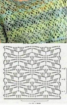 Ideas for crochet scarf diagram shawl patterns Filet Crochet, Crochet Scarf Diagram, Crochet Shawl Free, Crochet Motifs, Crochet Stitches Patterns, Crochet Chart, Crochet Doilies, Knit Crochet, Shawl Patterns