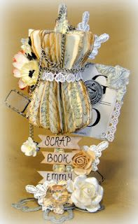 Swirlydoos Scrapbook Kits: Tim Holtz Dressform Tutorial.