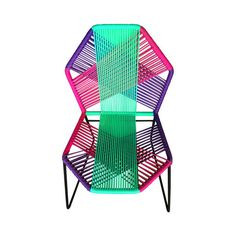 Viral Libre Silla tipo Acapulco de Acero y PVC - Varios Colores Neon Furniture, Street Furniture, Commercial Interior Design, Commercial Interiors, Lawn Chairs, Outdoor Chairs, Acapulco Chair, Simple Sofa, Small Patio
