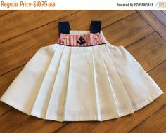 SALE Size 24 months 2T Vintage toddler Girl White Sailor Nautical Dress Top - Fourth Of July - Navy - Patriotic - Fleet week - Coast guard