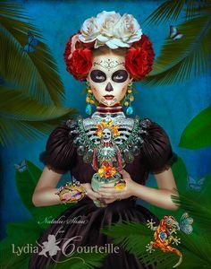 Catrina Illustration for Lydia Courteille Jewellery~Image © Natalie Shau,2013