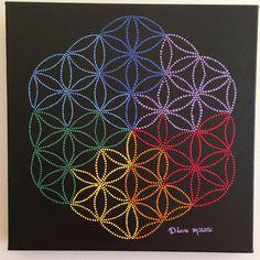 Peinture Mandala: La fleur de Vie