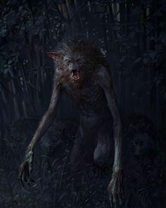 """Alpha Werewolf"" Artist Bartlomiej Gawel. Alpha Werewolf, Werewolf Art, Medieval Fantasy, Dark Fantasy, Fantasy Art, Fantasy Monster, Monster Art, Arte Horror, Horror Art"