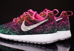 timeless design 3adf7 841da Girls get a vivid new edition of the Nike Roshe Run, decked out with a
