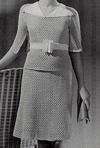 School Girl Dress crochet pattern originally published in Children's Clothes, Book 72. #crochet #dresspatterns