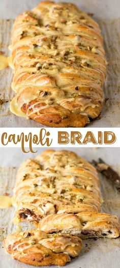 Just 6 ingredients and 35 minutes is all it takes to make this Cannoli Braid recipe!