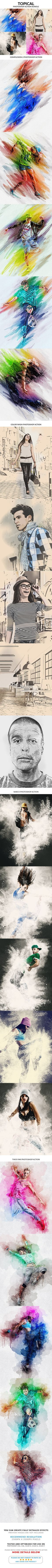 More Details About Actions Complexion 2 Photoshop Action Color Wash Photoshop Action Narco Photoshop Action Thick Ink Photoshop Ac