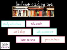 Study tips for Final exams! Great tips to become more confident in test taking  #finalexams #studying #exams #tests