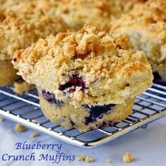 Blueberry Crunch Muffins--topping is oats, brown sugar, butter ....delicious!