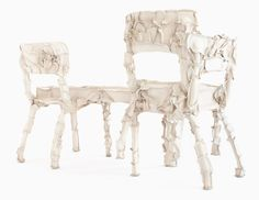 pepe heykoop turns waste leather into furniture with skin series - designboom | architecture & design magazine