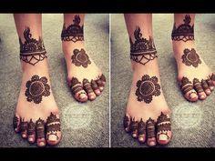 #hennasooq #hennaart Simple Mehndi Designs for Legs | Easy and Beautiful Henna Designs for Feet
