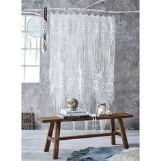 Vorhang, Aufwendig Verknotete Fäden, Baumwolle Vorderansicht