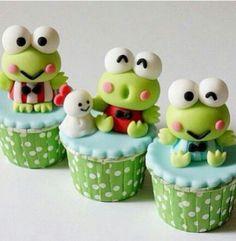 Keroppi cupcakes