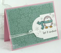 Let It Snow card by Nichole Heady for Papertrey Ink (October 2011).