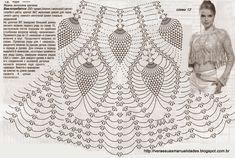 As Receitas de Crochê: Blusa de crochê em ponto abacaxi