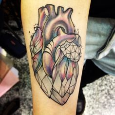 crystal heart tattoo