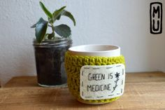 Visit now and save 15% on this item with promo code PINTERESTFAN !   Mug/ Tasse personnalisée/ Couvre-tasse/ Crochet  / par MillieandUbu