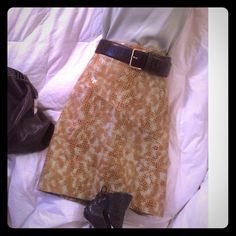 BISOU BISOU Leather Skirt Bison Bisou Size 8 Leather Skirt - Like new; Jimmy Choo Snakeskin Stilettos - 37 1/2 M available for purchase in this closet. From my closet to yours! Bisou Bisou Skirts