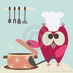 Owl and bowl Pinned by www.myowlbarn.com