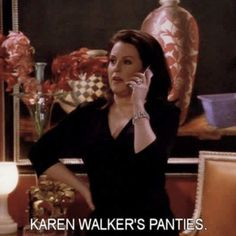 """What Will and Grace Taught Me """"Karen Walker's Panties"""" is a proper telephone greeting. Jack Will And Grace, Karen Walker Quotes, Anastasia Beaverhausen, Grace Adler, Funny One Liners, Tv Show Quotes, Movie Quotes, Great Tv Shows, Lady And Gentlemen"""