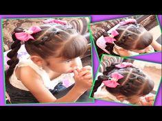 Tres Trenzas Irregulares   Trenza Burbuja, Pez, Y Rombo   Peinado Para Niñas - YouTube