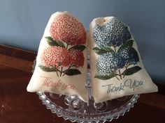10 Hydrangea Gift Favor Thank You Bags. Set of by KPortGiftCompany, $15.00