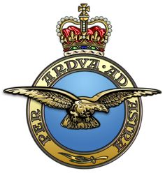 Royal Air Force - Per Ardua Ad Astra - through endeavour to the stars Badges, Kitty Hawk, Military Insignia, Royal Air Force, Coat Of Arms, Armed Forces, Military Aircraft, Vintage Posters, Wwii