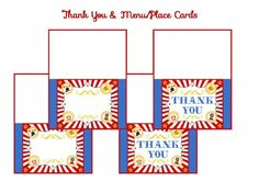 free circus birthday party printable tented cards