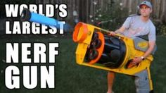 World's Largest NERF GUN and How its Work.This Huge Nerf Gun is made by Former NASA engineer and inventors jus Big Nerf Guns, Nasa Engineer, Nerf Darts, Paintball Guns, Shattered Glass, Geek Gifts, Cool Toys, Worlds Largest, Outdoor Power Equipment