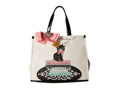 My Flat In London Charming Rules Square Tote Natural/Black - Zappos.com Free Shipping BOTH Ways