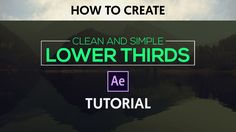 Hey guys in this tutorial we will learn how to create CLEAN & SIMPLE lower thirds into after effects using shape layers as mattes. so i hope you will learn s...