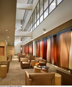 hospital main entrance lobby | The entry lobbies and other main public spaces, such as retail and ...
