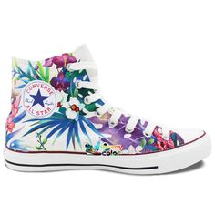 high top converse Picture - More Detailed Picture about Men Women High Top Converse  All Star Nature Forest Selva Birds Original Design Hand Painted Shoes ... c675ada8b8d
