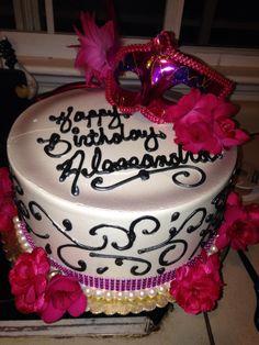 Masquerade party cake ❤️