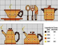 Gráficos de Ponto Cruz: gráficos ponto cruz cozinha