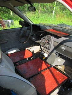 Use a car to dehydrate your fruit and veggies. In this article: How to make sun-dried strawberry leather (roll-ups).