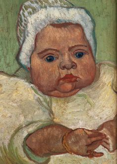 1888 Vincent Van Gogh The Baby Marcelle Roulin, Detail