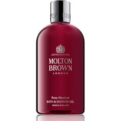 Molton Brown Rosa Absolute Bath & Shower (£23) ❤ liked on Polyvore featuring beauty products, bath & body products, body cleansers and molton brown